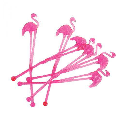 Set of 12 flamingo cocktail swizzle sticks - FLAMINGO STIRRERS