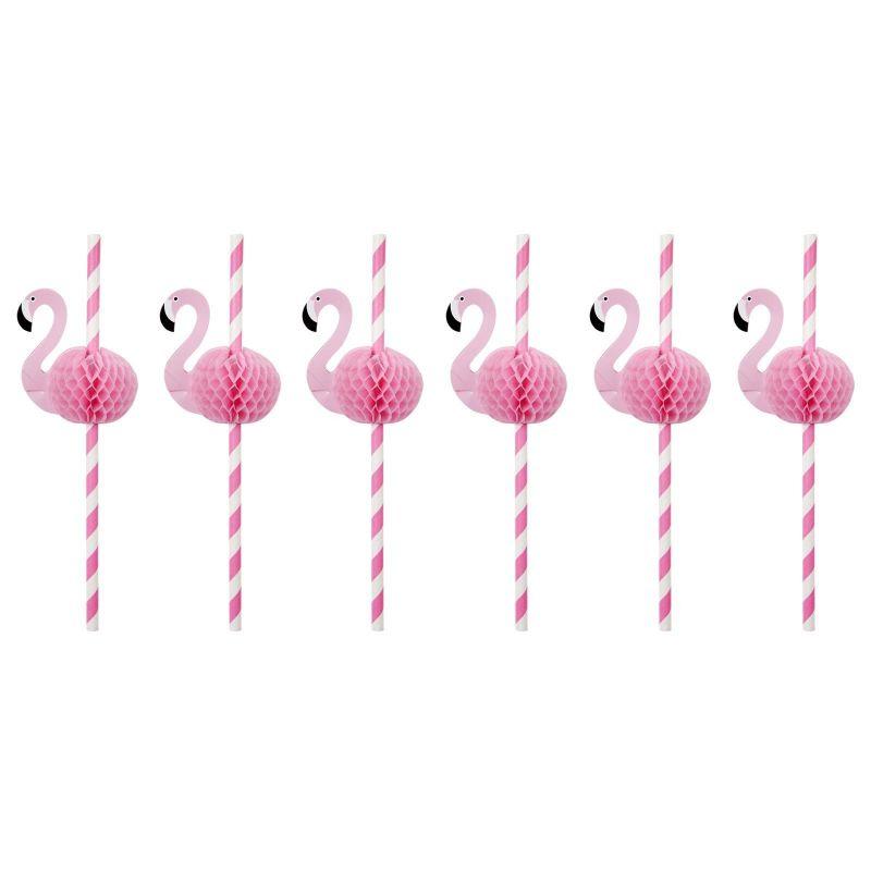 Set of 12 flamingo straws - FLAMINGO STRAWS
