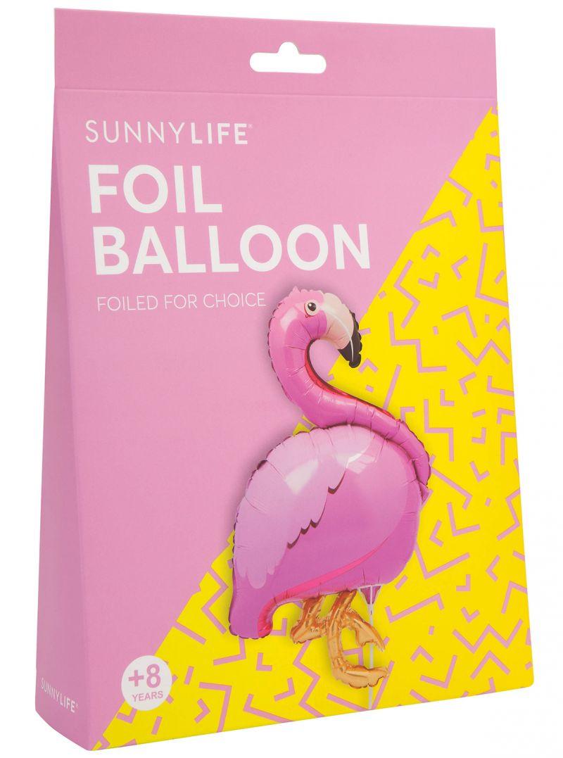 Aluminiumballong i form av en rosa flamingo, med skaft - BALLOON FLAMINGO