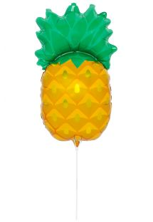 Pineapple-shaped aluminium foil balloon with stick - BALLOON PINEAPPLE