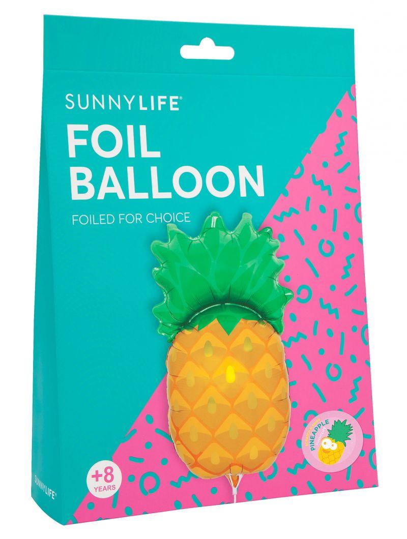 Aluminiumballong i form av en ananas med stjälk - BALLOON PINEAPPLE