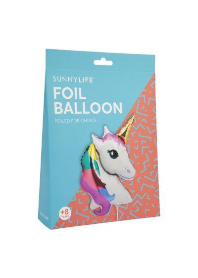 Enhörnings- lufballong i aluminium med stång - BALLOON UNICORN