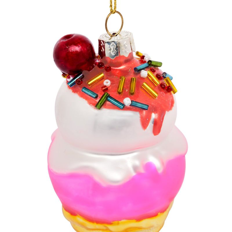 Ice cream cornet Christmas decoration to hang up - FESTIVE ORNAMENT ICE CREAM