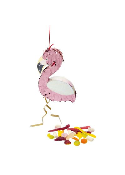 Liten pinata i form av en flamingo - FLAMINGO MINI PINATA