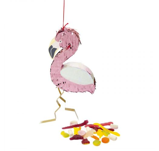 Small flamingo shape pinata - FLAMINGO MINI PINATA