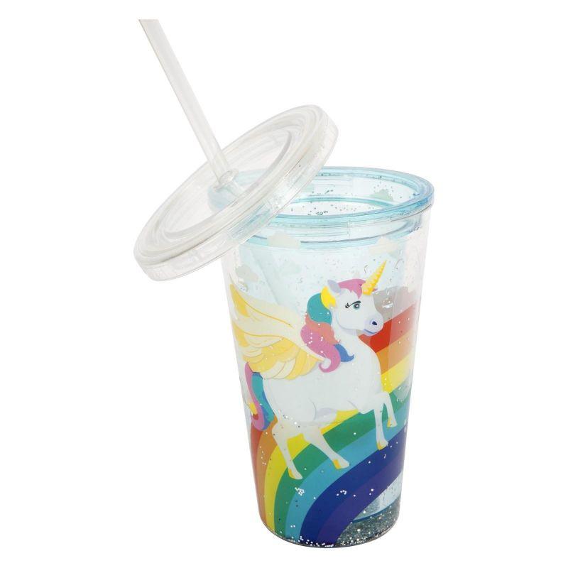 Children&#39s tumbler with unicorn and glitter - KIDS FUN WONDERLAND
