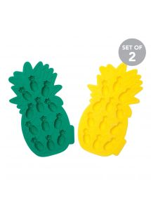 Lot de 2 moules à glaçons ananas en silicone - PINEAPPLE ICE TRAYS