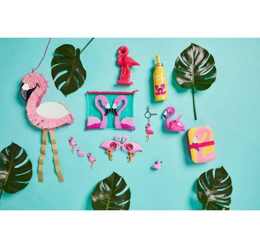 Portable mini fan - pink flamingo - BEACH FAN FLAMINGO