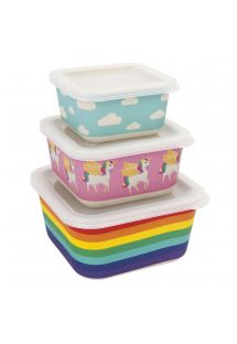 Set of 3 food boxes with wonderland motives - BOX WONDERLAND