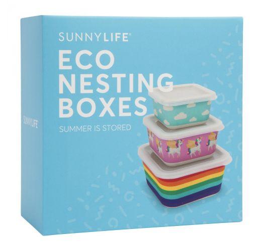 Set of 3 food boxes with wonderland motives - BOX WONDERLAND