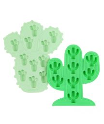 Green silicone ice form in cactus shape - CACTUS ICE TRAYS