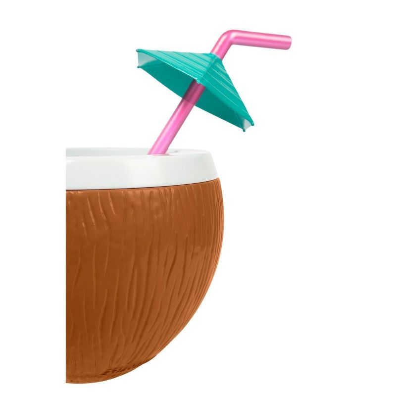 Coconut shape tumbler with straw - COCONUT SIPPER