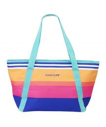 Isotherm beach bag with colorful stripes - COOLER BAG CATALINA