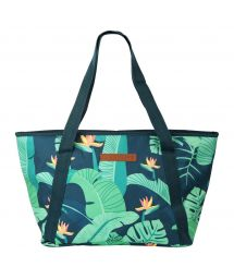 Green foliage isotherm beach bag - COOLER BAG MONTEVERDE