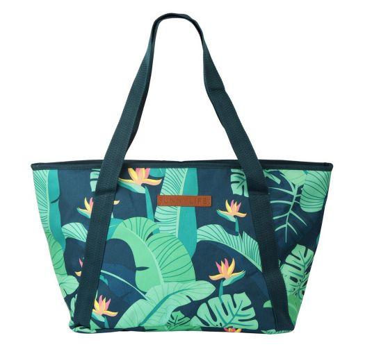 Bolsa de playa isoterma follaje verde - COOLER BAG MONTEVERDE