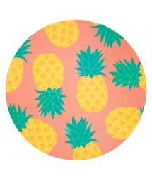 Pineapple pattern serving platter in bamboo fibre - ECO SERVING PLATTER PINEAPPLE