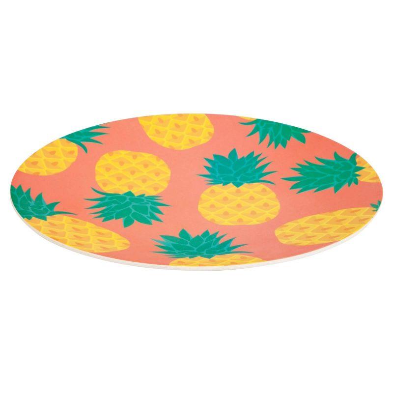Bambutallrik med ananasmotiv - ECO SERVING PLATTER PINEAPPLE