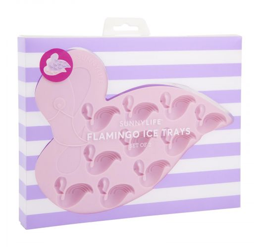 Set of 2 flamingo shaped silicone ice cube trays - FLAMINGO ICE TRAYS