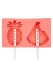 Moules à glaces en silicone ananas/pastèque - FRUIT SALAD POP MOULDS