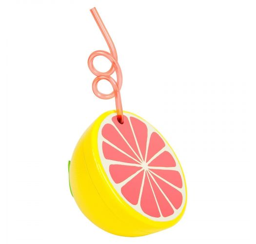 Drink container with a straw - grapefruit - FUN GRAPEFRUIT
