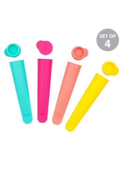 Set med4silikonformar i olika färger för glass - ICY POLE MOULDS CARIBBEAN