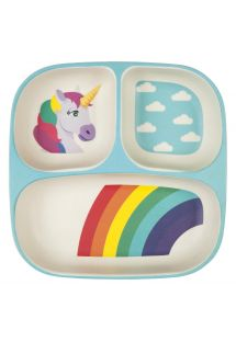 Kids plate with 3 compartments - Wonderland theme - KIDS PLATE WONDERLAND