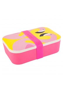 Pote para colación caja con flamenco rosado - LUNCH BOX FLAMINGO