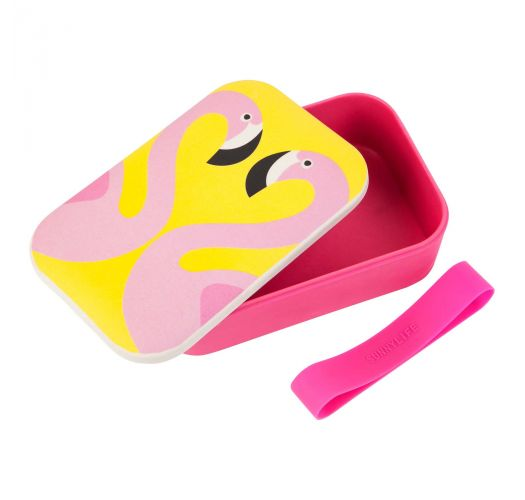 Pink flamingo lunch box - LUNCH BOX FLAMINGO
