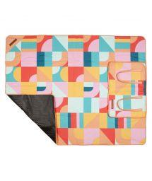Geometric print folding picnic blanket - PICNIC BLANKET ISLABOMBA