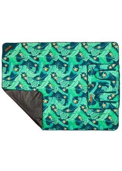 Green foliage folding picnic blanket - PICNIC BLANKET MONTEVERDE