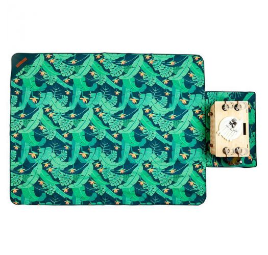 Picknickdecke in Tasche wandelbar, Blattprint - PICNIC BLANKET MONTEVERDE