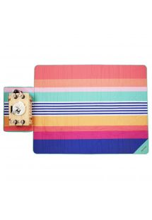 Striped bag with foldable picnic blanket - PICNIC CATALINA