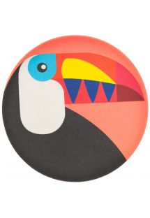 Toucan pattern small plate in bamboo fibre - PLATE TOUCAN SMALL