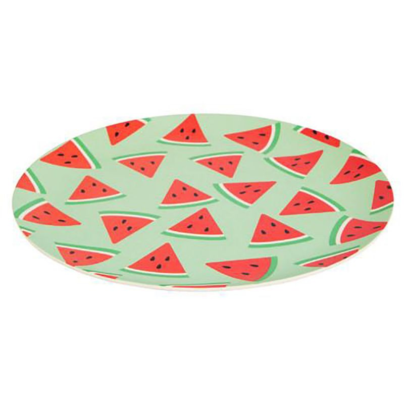 Bamboo fibre plate with watermelon pattern - PLATE WATERMELON LARGE