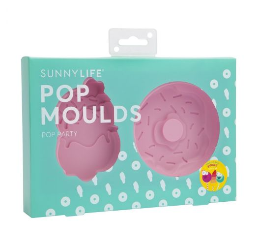 Ice cream/donut silicone ice lolly moulds - SWEET TOOTH POP MOULDS