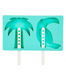 Palm tree and toucan silicone ice cream moulds  - TROPICAL POP MOULDS