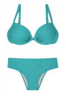 Blauwe plusmaat bikini - PLUS NANAI