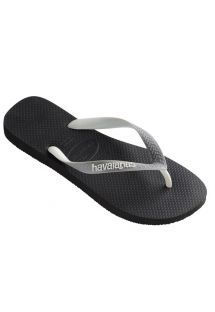 Black Flip Flops - Havaianas Top Mix Black/Steel Grey