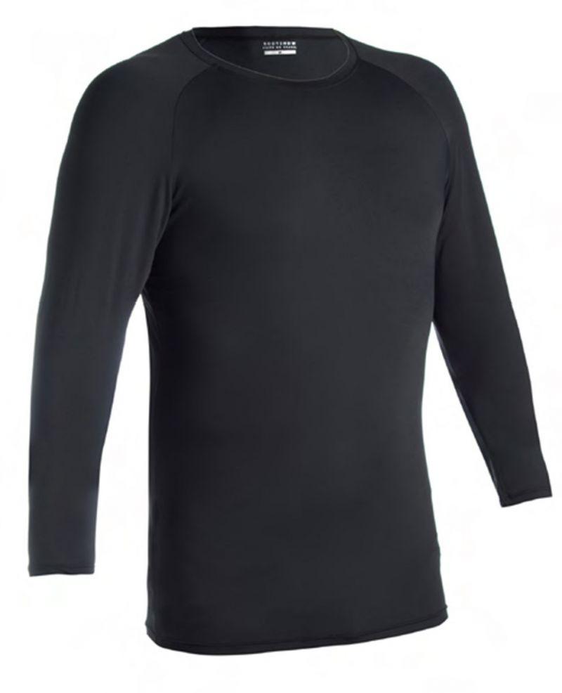 Men&#39s long sleeve black t-shirt UV protection - CAMISETA UV PRETO