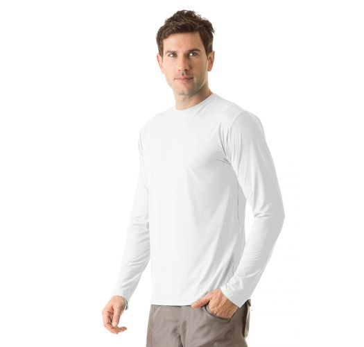 White long sleeve for men - UPF50 - CAMISETA UVPRO BRANCO - SOLAR PROTECTION UV.LINE
