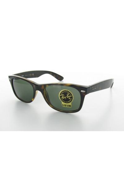 Horn-rimmed sunglasses and green conventional lenses - NEW WAYFARER CLASSIC RB2132