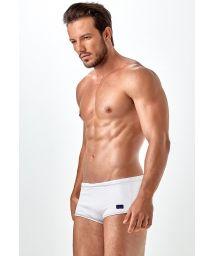 White sunga swimming trunks, textured fabric - SUNGA LIGHT PIQUET