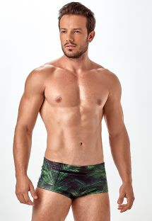 Sunga swimming trunks with palm tree print - SUNGA SUBLIMAÇAO VERDE