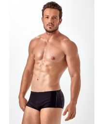 Black sunga swimming trunks with blue detailing - SUNGA ZIPER E FRISO
