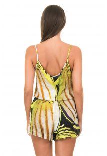 Animal print yellow jumpsuit - PEIXES AMARELO