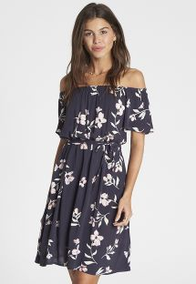 Floral print off the shoulder beach dress - BOTH WAYS INK