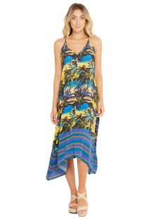 Strandkleid, Tropical Sunset-Print - BALI ENTARDECER
