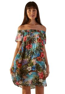 Colorful tropical beach dress - GAIA HONOLULU