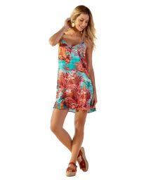 Robe de plage courte imprimé exotique - PRI VANUATU