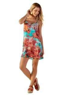 Exotic print short beach dress - PRI VANUATU